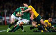 23 June 2018; CJ Stander of Ireland is tackled by Dane Haylett-Petty of Australia during the 2018 Mitsubishi Estate Ireland Series 3rd Test match between Australia and Ireland at Allianz Stadium in Sydney, Australia. Photo by Brendan Moran/Sportsfile