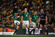 23 June 2018; Jonathan Sexton of Ireland kicks a penalty during the 2018 Mitsubishi Estate Ireland Series 3rd Test match between Australia and Ireland at Allianz Stadium in Sydney, Australia. Photo by Brendan Moran/Sportsfile