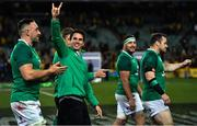 23 June 2018; Joey Carbery of Ireland salutes Irish fans after the 2018 Mitsubishi Estate Ireland Series 3rd Test match between Australia and Ireland at Allianz Stadium in Sydney, Australia. Photo by Brendan Moran/Sportsfile