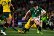 23 June 2018; Jacob Stockdale of Ireland is tackled by Reece Hodge of Australia during the 2018 Mitsubishi Estate Ireland Series 3rd Test match between Australia and Ireland at Allianz Stadium in Sydney, Australia. Photo by Brendan Moran/Sportsfile