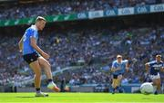 24 June 2018; Paul Mannion of Dublin strikes a penalty during the Leinster GAA Football Senior Championship Final match between Dublin and Laois at Croke Park in Dublin. Photo by Stephen McCarthy/Sportsfile