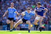 24 June 2018; Brian Fenton of Dublin in action against John O'Loughlin of Laois during the Leinster GAA Football Senior Championship Final match between Dublin and Laois at Croke Park in Dublin. Photo by Stephen McCarthy/Sportsfile
