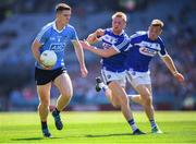 24 June 2018; Brian Fenton of Dublin in action against Alan Farrell and Kieran Lillis, right, of Laois during the Leinster GAA Football Senior Championship Final match between Dublin and Laois at Croke Park in Dublin. Photo by Stephen McCarthy/Sportsfile