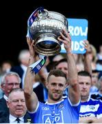 24 June 2018; Paul Mannion of Dublin lifts the Delaney Cup following the Leinster GAA Football Senior Championship Final match between Dublin and Laois at Croke Park in Dublin. Photo by Stephen McCarthy/Sportsfile