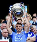 24 June 2018; Cormac Costello of Dublin lifts the Delaney Cup following the Leinster GAA Football Senior Championship Final match between Dublin and Laois at Croke Park in Dublin. Photo by Stephen McCarthy/Sportsfile
