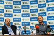 26 June 2018; CEO of Ireland Hockey Jerome Pels, left, and Ireland head coach Graham Shaw during an Ireland Hockey World Cup Media Day at SoftCo Ireland in South County Business Park, Leopardstown, Dublin. Photo by Harry Murphy/Sportsfile