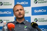 26 June 2018; Ireland head coach Graham Shaw during an Ireland Hockey World Cup Media Day at SoftCo Ireland in South County Business Park, Leopardstown, Dublin. Photo by Harry Murphy/Sportsfile