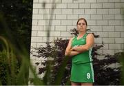 26 June 2018; Katie Mullan poses for a portrait following an Ireland Hockey World Cup Media Day at SoftCo Ireland in South County Business Park, Leopardstown, Dublin. Photo by Harry Murphy/Sportsfile
