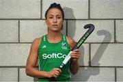 26 June 2018; Anna O'Flanagan poses for a portrait following an Ireland Hockey World Cup Media Day at SoftCo Ireland in South County Business Park, Leopardstown, Dublin. Photo by Harry Murphy/Sportsfile