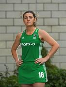 26 June 2018; Roisín Upton poses for a portrait following an Ireland Hockey World Cup Media Day at SoftCo Ireland in South County Business Park, Leopardstown, Dublin. Photo by Harry Murphy/Sportsfile