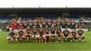17 June 2018; The Mayo squad before the EirGrid Connacht GAA Football U20 Championship Final match between Mayo and Roscommon at Dr Hyde Park in Roscommon. Photo by Piaras Ó Mídheach/Sportsfile