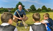 27 June 2018; Fergal Whitely of Dublin, centre, was in Ballyfermot Sports Complex today at the AIG Heroes event, an initiative which helps support local grassroots communities by partnering with Dublin GAA and others to use sport as a means to build self-confidence and social skills in young kids. To further promote these efforts AIG Insurance gifted GAA equipment to primary schools in the area. Photo by Sam Barnes/Sportsfile