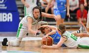 27 June 2018; Cathy Schmit of Luxembourg in action against Fiona O'Dwyer, left, and Edel Thornton of Ireland during the FIBA 2018 Women's European Championships for Small Nations Group B match between Ireland and Luxembourg at the Mardyke Arena in Cork, Ireland. Photo by Brendan Moran/Sportsfile