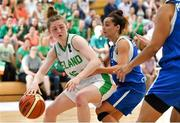 28 June 2018; Edel Thornton of Ireland  in action against Christiana Menelaou of Cyprus during the FIBA 2018 Women's European Championships for Small Nations Group B match between Ireland and Cyprus at Mardyke Arena, Cork, Ireland. Photo by Brendan Moran/Sportsfile