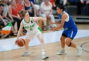 28 June 2018; Edel Thornton of Ireland in action against Sonia Papadopoulou of Cyprus during the FIBA 2018 Women's European Championships for Small Nations Group B match between Ireland and Cyprus at Mardyke Arena, Cork, Ireland. Photo by Brendan Moran/Sportsfile