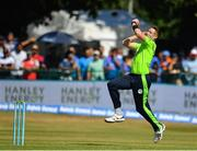 29 June 2018; Boyd Rankin of Ireland in action during the T20 International match between Ireland and India at Malahide Cricket Club Ground in Dublin. Photo by Seb Daly/Sportsfile