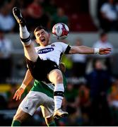 29 June 2018; Ronan Murray of Dundalk in action against Conor McCormack of Cork City during the SSE Airtricity League Premier Division match between Dundalk and Cork City at Oriel Park in Dundalk, Louth. Photo by Stephen McCarthy/Sportsfile