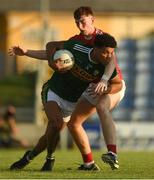 29 June 2018; Stefan Okunbor of Kerry in action against Mark Keane of Cork during the EirGrid Munster GAA Football U20 Championship Final match between Kerry and Cork at Austin Stack Park in Tralee, Kerry. Photo by Piaras Ó Mídheach/Sportsfile