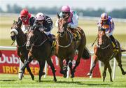 30 June 2018; Viadera, second from right, with Colin Keane up, on their way to winning the Dubai Duty Free Finest Surprise Irish EBF Maiden during day 2 of the Dubai Duty Free Irish Derby Festival at the Curragh Racecourse in Kildare. Photo by Matt Browne/Sportsfile