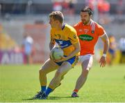 30 June 2018; Pearse Lillis of Clare in action against Aidan Forker of Armagh during the GAA Football All-Ireland Senior Championship Round 3 match between Armagh and Clare at the Athletic Grounds in Armagh. Photo by Seb Daly/Sportsfile