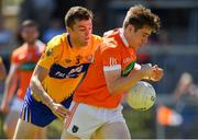 30 June 2018; Andrew Murnin of Armagh in action against Cillian Brennan of Clare during the GAA Football All-Ireland Senior Championship Round 3 match between Armagh and Clare at the Athletic Grounds in Armagh. Photo by Seb Daly/Sportsfile