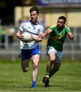30 June 2018; Karl O'Connell of Monaghan in action against Brendan Gallagher of Leitrim during the GAA Football All-Ireland Senior Championship Round 3 match between Leitrim and Monaghan at Páirc Seán Mac Diarmada in Carrick-on-Shannon, Leitrim. Photo by Daire Brennan/Sportsfile