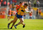 30 June 2018; Keelan Sexton of Clare in action against Gregory McCabe of Armagh during the GAA Football All-Ireland Senior Championship Round 3 match between Armagh and Clare at the Athletic Grounds in Armagh. Photo by Seb Daly/Sportsfile
