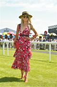 30 June 2018; Regina Horan from Malahide, Co Dublin, winner of the best dressed lady competition at day 2 of the Dubai Duty Free Irish Derby Festival at the Curragh Racecourse in Kildare. Photo by Matt Browne/Sportsfile