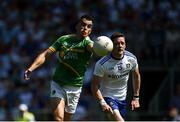 30 June 2018; Paddy Maguire of Leitrim in action against Conor McManus of Monaghan during the GAA Football All-Ireland Senior Championship Round 3 match between Leitrim and Monaghan at Páirc Seán Mac Diarmada in Carrick-on-Shannon, Leitrim. Photo by Daire Brennan/Sportsfile
