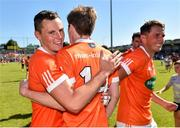30 June 2018; Armagh players, from left, Aaron McKay, Andrew Murnin and Stephen Sheridan during the GAA Football All-Ireland Senior Championship Round 3 match between Armagh and Clare at the Athletic Grounds in Armagh. Photo by Seb Daly/Sportsfile