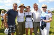 30 June 2018; Former jockey Johnny Murtagh, left, pictured with his wife, Orla Murtagh, daughter Lauren Murtagh of Kildare and his parents-in-law Tipperary's Michael 'Babs' Keating and Nancy Keating after the GAA All-Ireland Minor B Ladies Football Semi-final match between Kildare and Waterford, preceding the GAA All-Ireland Minor A Ladies Football Semi-final between Cork and Dublin at MacDonagh Park in Nenagh, Tipperary. Photo by Harry Murphy/Sportsfile