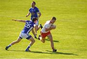 30 June 2018; Niall Sludden of Tyrone in action against Dan Wharton of Cavan during the GAA Football All-Ireland Senior Championship Round 3 match between Cavan and Tyrone at Brewster Park in Enniskillen, Fermanagh. Photo by Eóin Noonan/Sportsfile