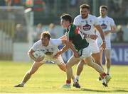 30 June 2018; Paul Cribbin of Kildare is tackled by James Durcan of Mayo during the GAA Football All-Ireland Senior Championship Round 3 match between Kildare and Mayo at St Conleth's Park in Newbridge, Kildare. Photo by Piaras Ó Mídheach/Sportsfile