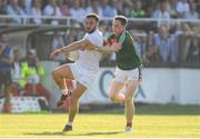 30 June 2018; Fergal Conway of Kildare in action against Paddy Durcan of Mayo during the GAA Football All-Ireland Senior Championship Round 3 match between Kildare and Mayo at St Conleth's Park in Newbridge, Kildare. Photo by Piaras Ó Mídheach/Sportsfile