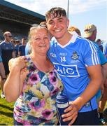 30 June 2018; Man of the Match Luke Swan with his mother, Michelle, after the Electric Ireland Leinster GAA Hurling Minor Championship Final match between Dublin and Kilkenny at O'Moore Park in Portlaoise, Laois. Photo by Ray McManus/Sportsfile