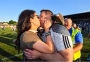 30 June 2018; Kildare manager Cian O'Neill is congratulated by his wife Tammy following the GAA Football All-Ireland Senior Championship Round 3 match between Kildare and Mayo at St Conleth's Park in Newbridge, Kildare. Photo by Stephen McCarthy/Sportsfile