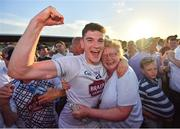 30 June 2018; Mark Hyland of Kildare is congratulated by his mother Máire following the GAA Football All-Ireland Senior Championship Round 3 match between Kildare and Mayo at St Conleth's Park in Newbridge, Kildare. Photo by Stephen McCarthy/Sportsfile