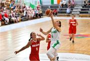 30 June 2018; Casey Grace of Ireland in action against Margarita Schitco of Moldova during the FIBA 2018 Women's European Championships for Small Nations Classification match between Ireland and Moldova at Mardyke Arena, Cork, Ireland. Photo by Brendan Moran/Sportsfile