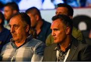 30 June 2018; IABA High Performance head coach Zaur Antia, left, and USA boxing coach Billy Walsh at the SSE Arena in Belfast. Photo by Ramsey Cardy/Sportsfile