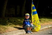1 July 2018; Clare supporter Oisín Conway, age 7, from Parteen, Co Clare, prior to the Munster GAA Hurling Senior Championship Final match between Cork and Clare at Semple Stadium in Thurles, Tipperary. Photo by Eóin Noonan/Sportsfile