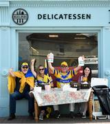 1 July 2018; Clare supporters, from left, Mike Hassett, Katie Callahan, Donal Hassett, Kelly-Ann Hassett, from Ballynacally, Co Clare, prior to the Munster GAA Hurling Senior Championship Final match between Cork and Clare at Semple Stadium in Thurles, Tipperary. Photo by David Fitzgerald/Sportsfile