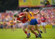 1 July 2018; Seamus Harnedy of Cork is tackled by David McInerney of Clareduring the Munster GAA Hurling Senior Championship Final match between Cork and Clare at Semple Stadium in Thurles, Tipperary. Photo by Eóin Noonan/Sportsfile