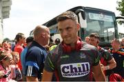1 July 2018; Eoghan Cadogan of Cork arriving ahead of the Munster GAA Hurling Senior Championship Final match between Cork and Clare at Semple Stadium in Thurles, Tipperary. Photo by Eóin Noonan/Sportsfile