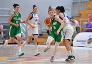 1 July 2018; Edel Thornton of Ireland in action against Chara Roussaki of Cyprus during the FIBA 2018 Women's European Championships for Small Nations Classification 5-6 match between Cyprus and Ireland at Mardyke Arena, Cork, Ireland. Photo by Brendan Moran/Sportsfile