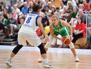 1 July 2018; Sarah Woods of Ireland in action against Stavroula Koniali of Cyprus during the FIBA 2018 Women's European Championships for Small Nations Classification 5-6 match between Cyprus and Ireland at Mardyke Arena, Cork, Ireland. Photo by Brendan Moran/Sportsfile
