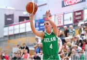 1 July 2018; Aine McKenna of Ireland shoots a three-pointer during the FIBA 2018 Women's European Championships for Small Nations Classification 5-6 match between Cyprus and Ireland at Mardyke Arena, Cork, Ireland. Photo by Brendan Moran/Sportsfile