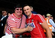 1 July 2018; Cork supporter Joan Cooney with Eoin Cadogan of Cork after the Munster GAA Hurling Senior Championship Final match between Cork and Clare at Semple Stadium in Thurles, Tipperary. Photo by Ray McManus/Sportsfile