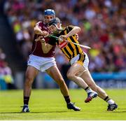 1 July 2018; Conor Fogarty of Kilkenny in action against Johnny Coen of Galway during the Leinster GAA Hurling Senior Championship Final match between Kilkenny and Galway at Croke Park in Dublin. Photo by Stephen McCarthy/Sportsfile