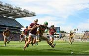 1 July 2018; Martin Keoghan of Kilkenny in action against Gearóid McInerney of Galway during the Leinster GAA Hurling Senior Championship Final match between Kilkenny and Galway at Croke Park in Dublin. Photo by Ramsey Cardy/Sportsfile