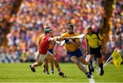 1 July 2018; Tony Kelly of Clare in action against Mark Coleman of Cork during the Munster GAA Hurling Senior Championship Final match between Cork and Clare at Semple Stadium in Thurles, Tipperary. Photo by Eóin Noonan/Sportsfile